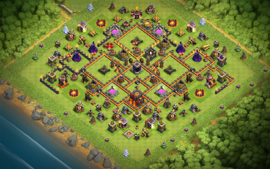 Clash of Clans farm base for Town Hall 10