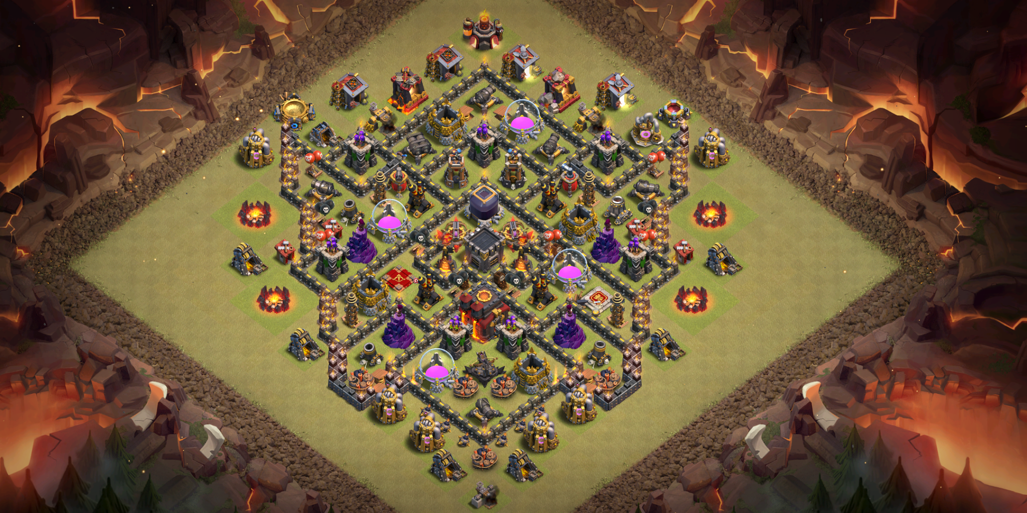 Clash Of Clans Bases Farm For Town Hall 10 Clashtrack Com