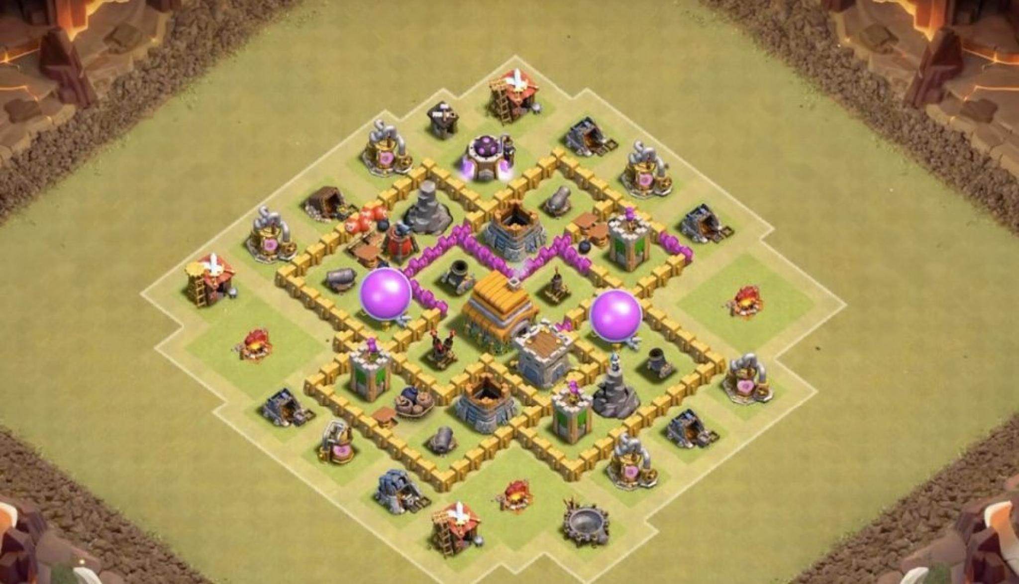Clash of Clans farm base for Town Hall 6