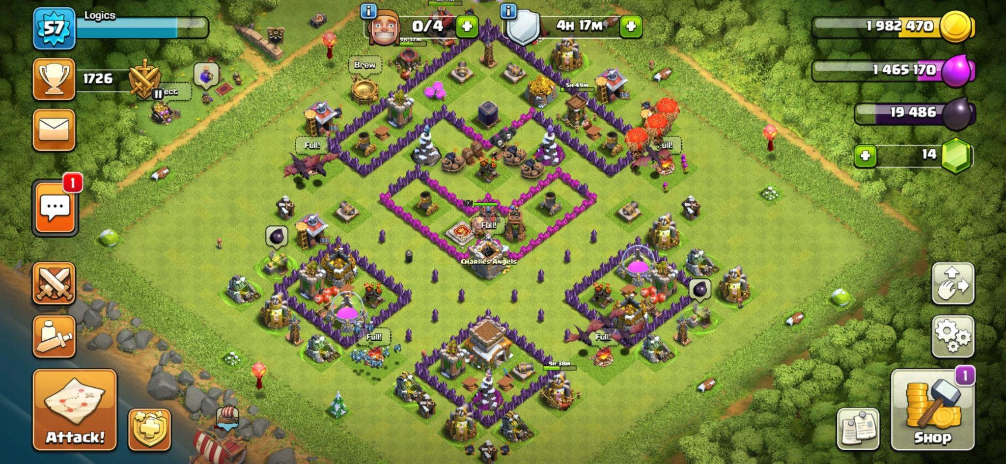 Clash of Clans farm base for Town Hall 8