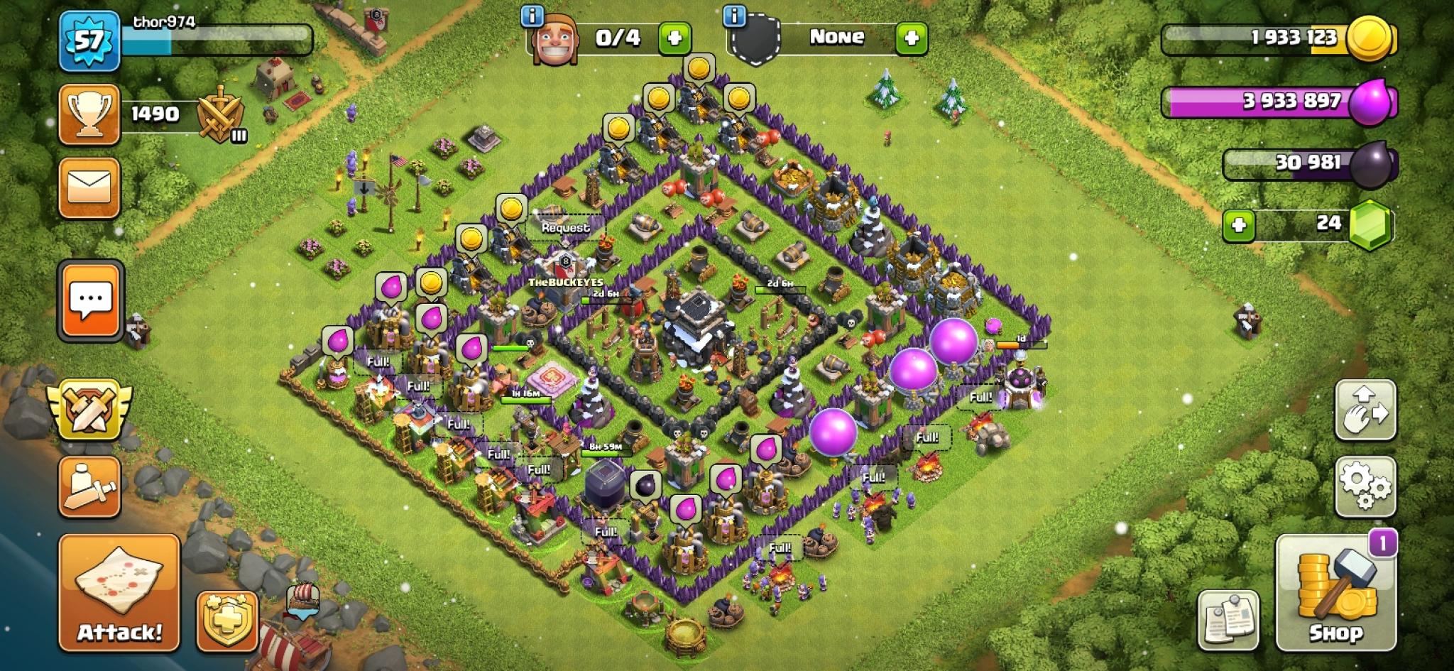Clash of Clans farm base for Town Hall 9