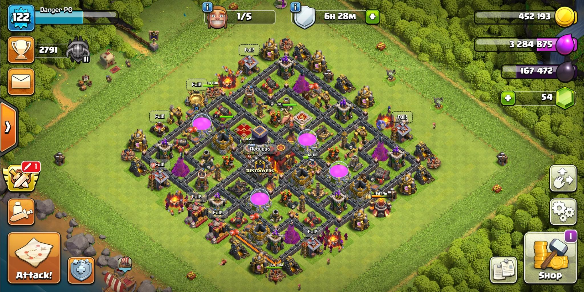 Clash of Clans hybrid base for Town Hall 10