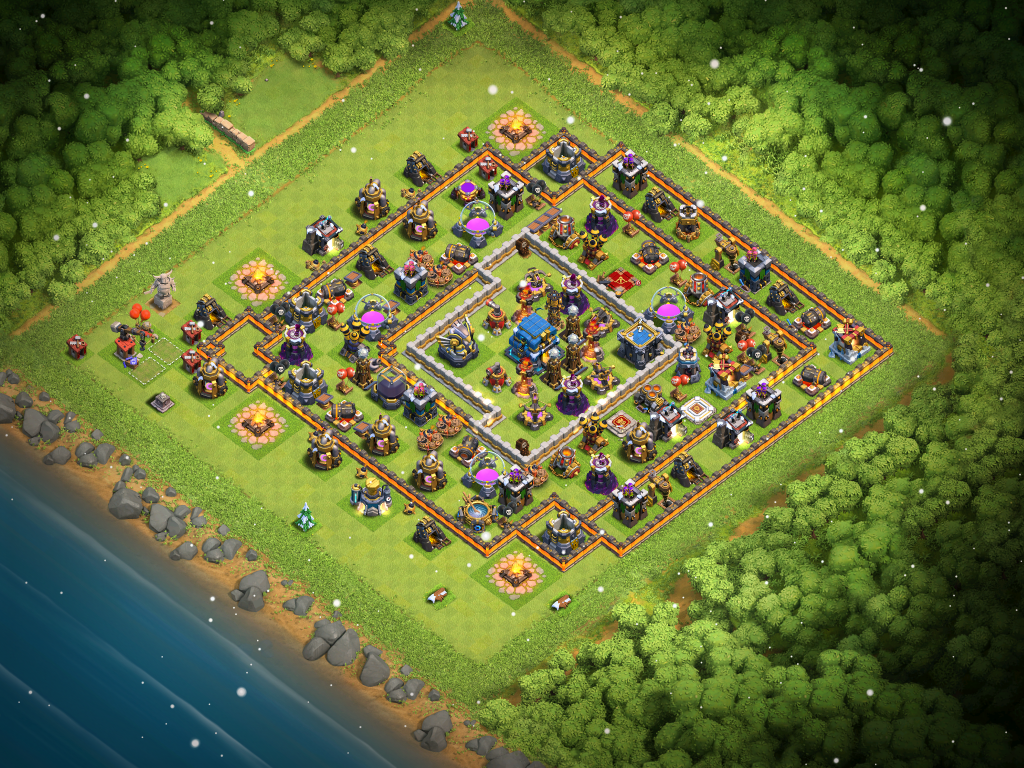 Clash of Clans Bases hybrid for Town Hall 12 ClashTrack com