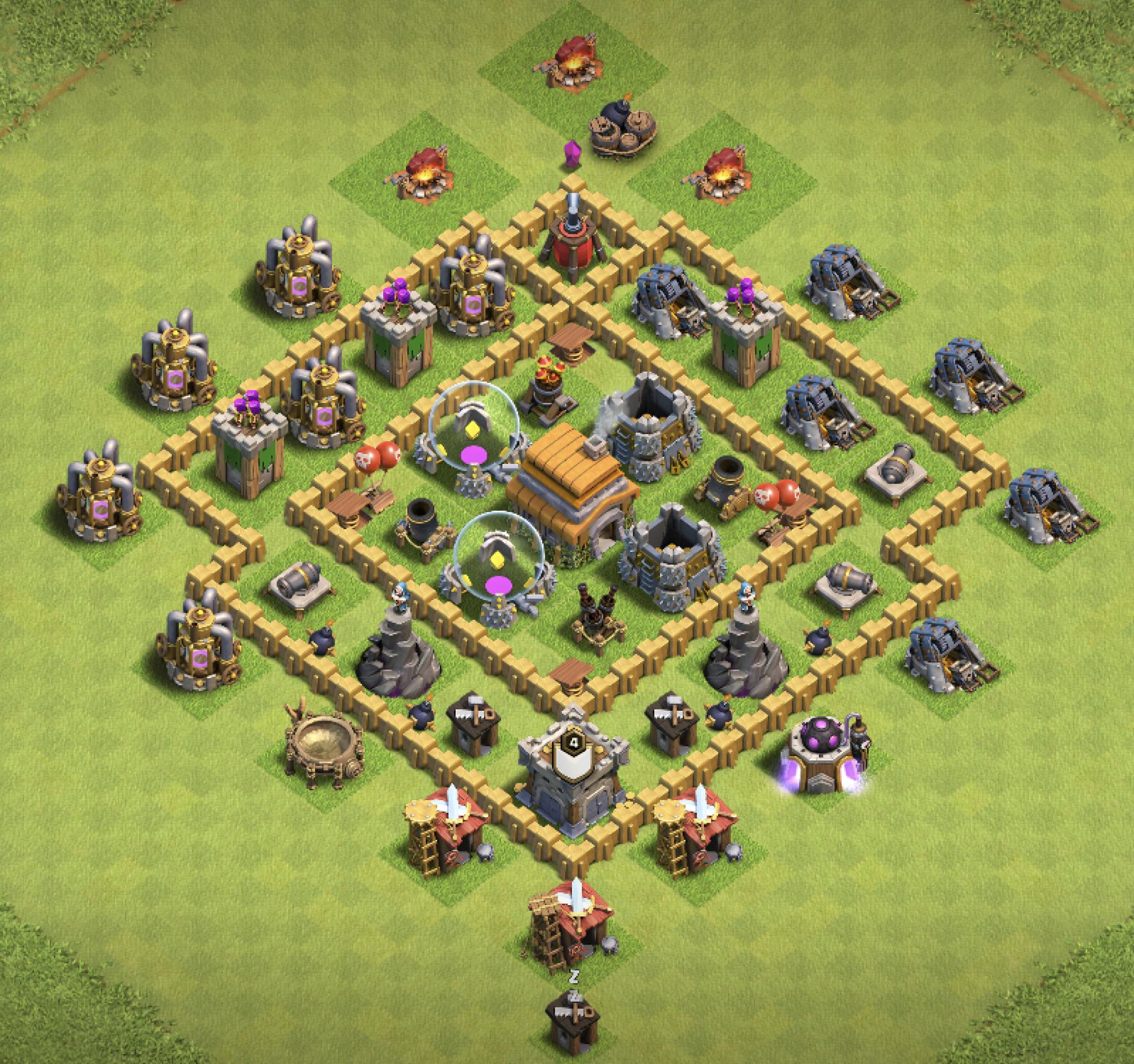 Clash of Clans hybrid base for Town Hall 6