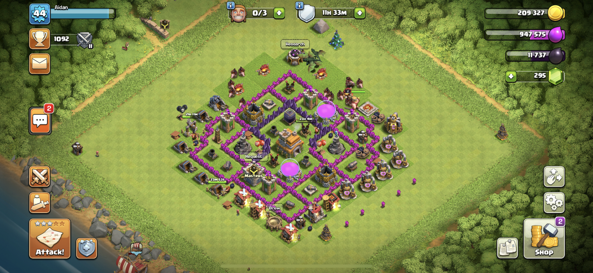 Clash of Clans hybrid base for Town Hall 7