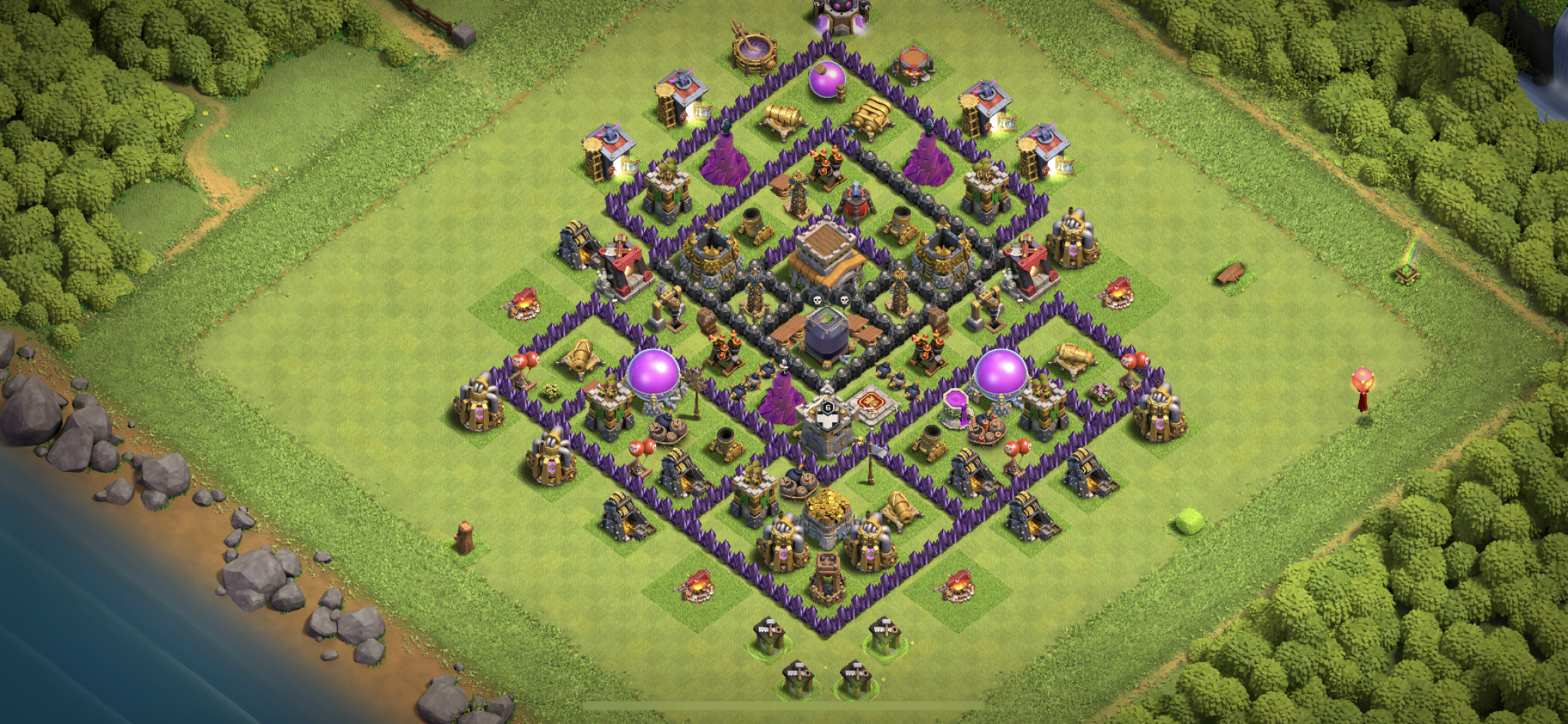 Clash of Clans hybrid base for Town Hall 8