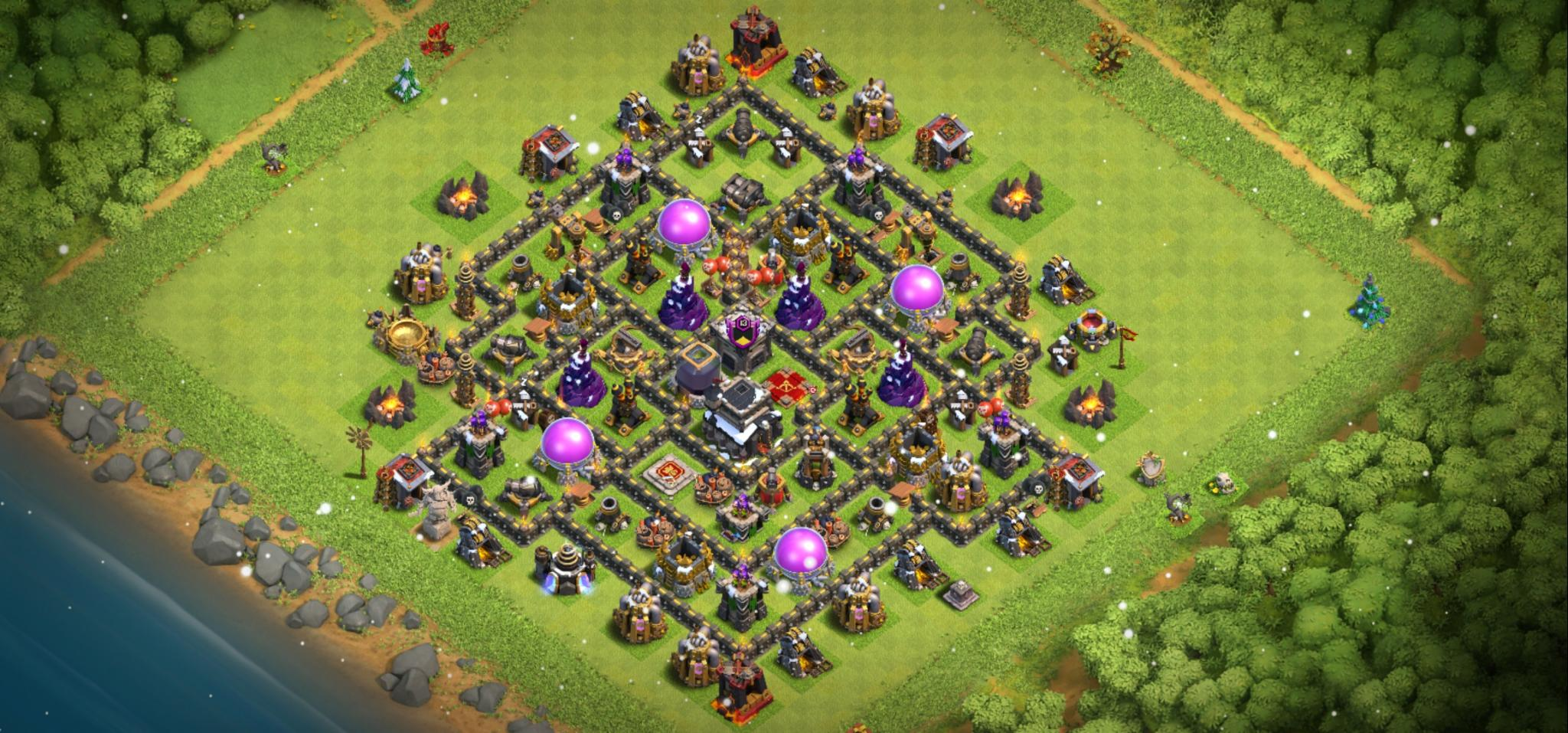 Clash of Clans hybrid base for Town Hall 9
