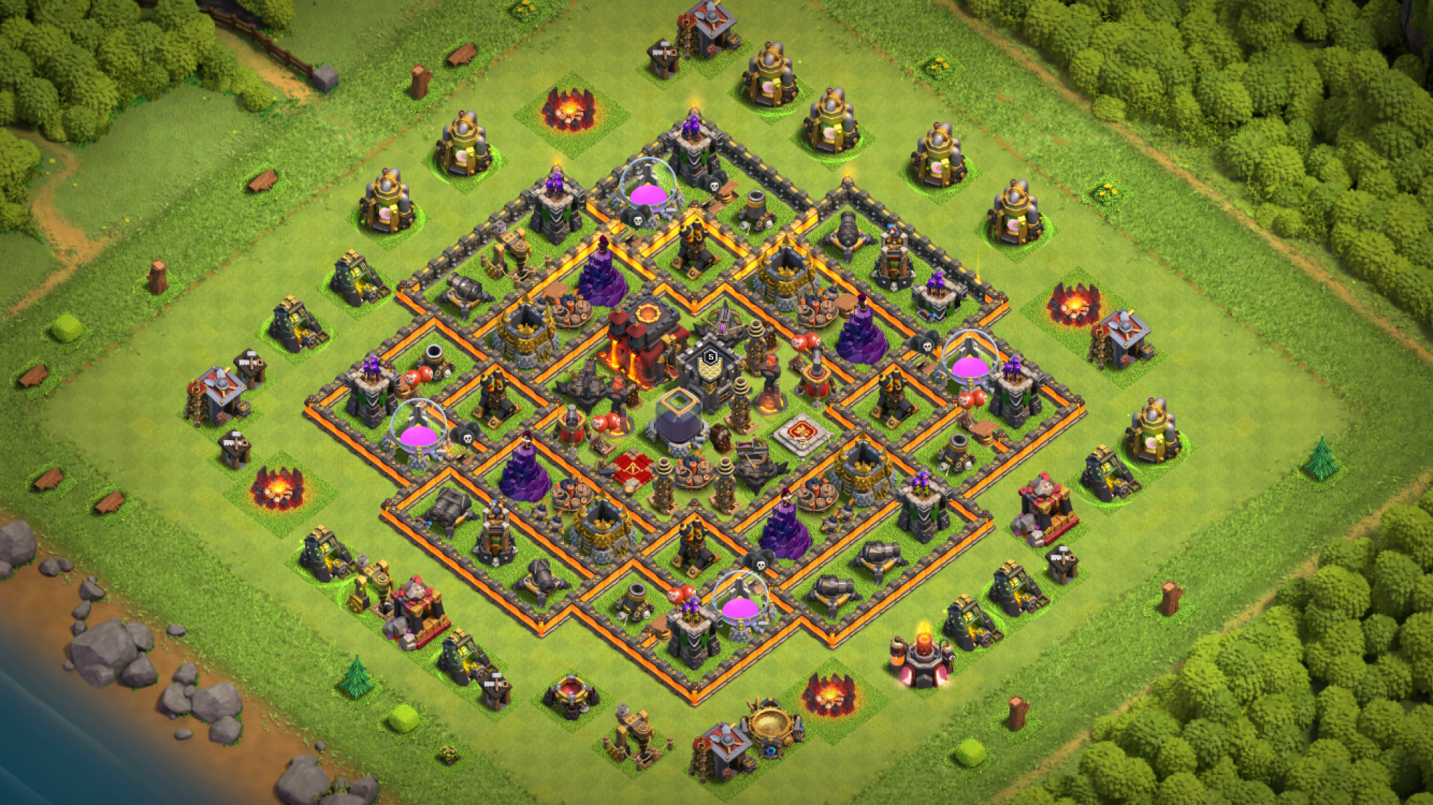 Clash of Clans trophy base for Town Hall 10