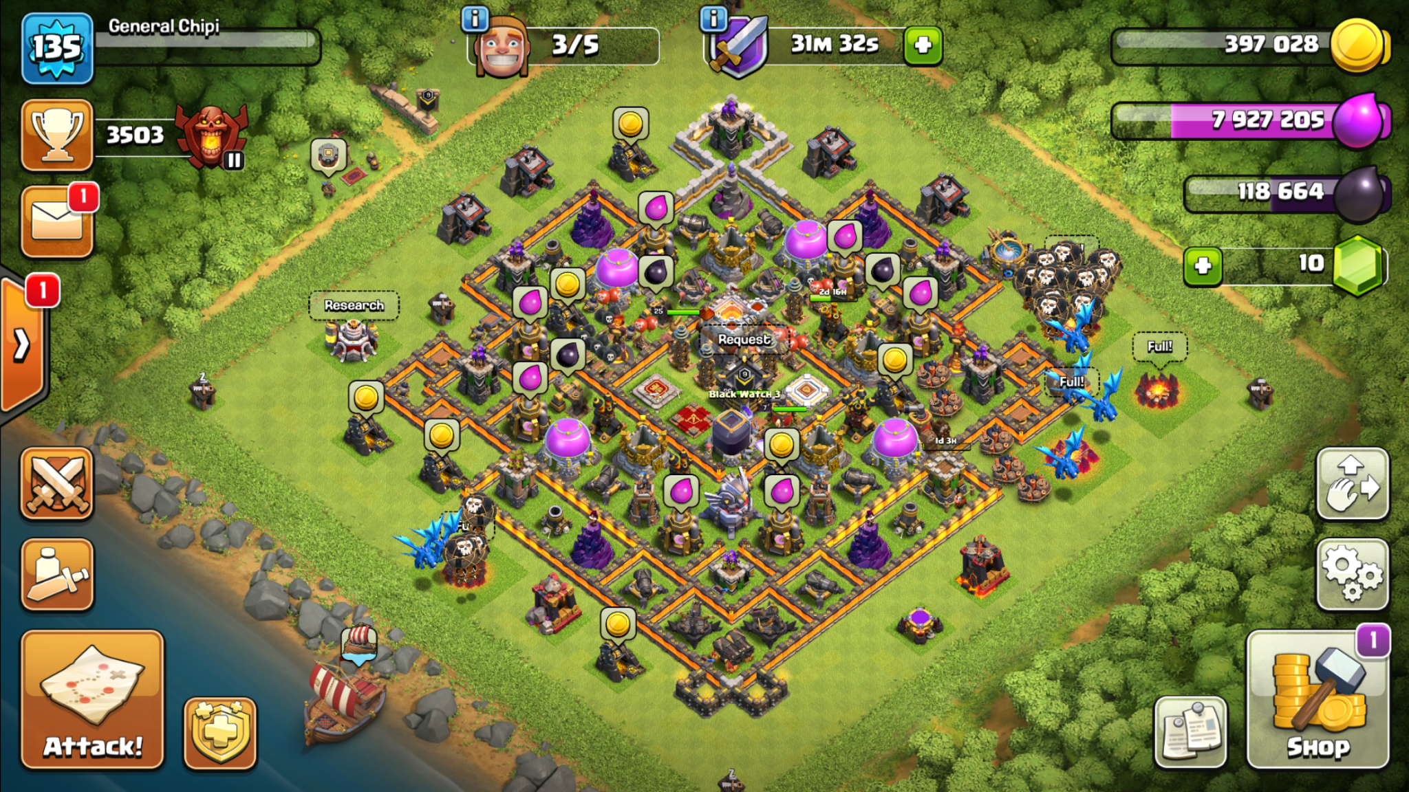Clash of Clans trophy base for Town Hall 11