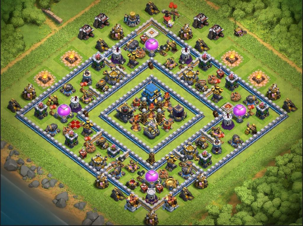 Clash of Clans Bases trophy for Town Hall 12 ClashTrack com - Clan