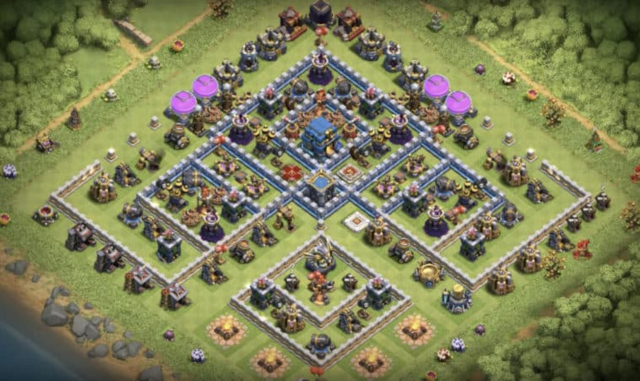 Clash of Clans trophy base for Town Hall 12