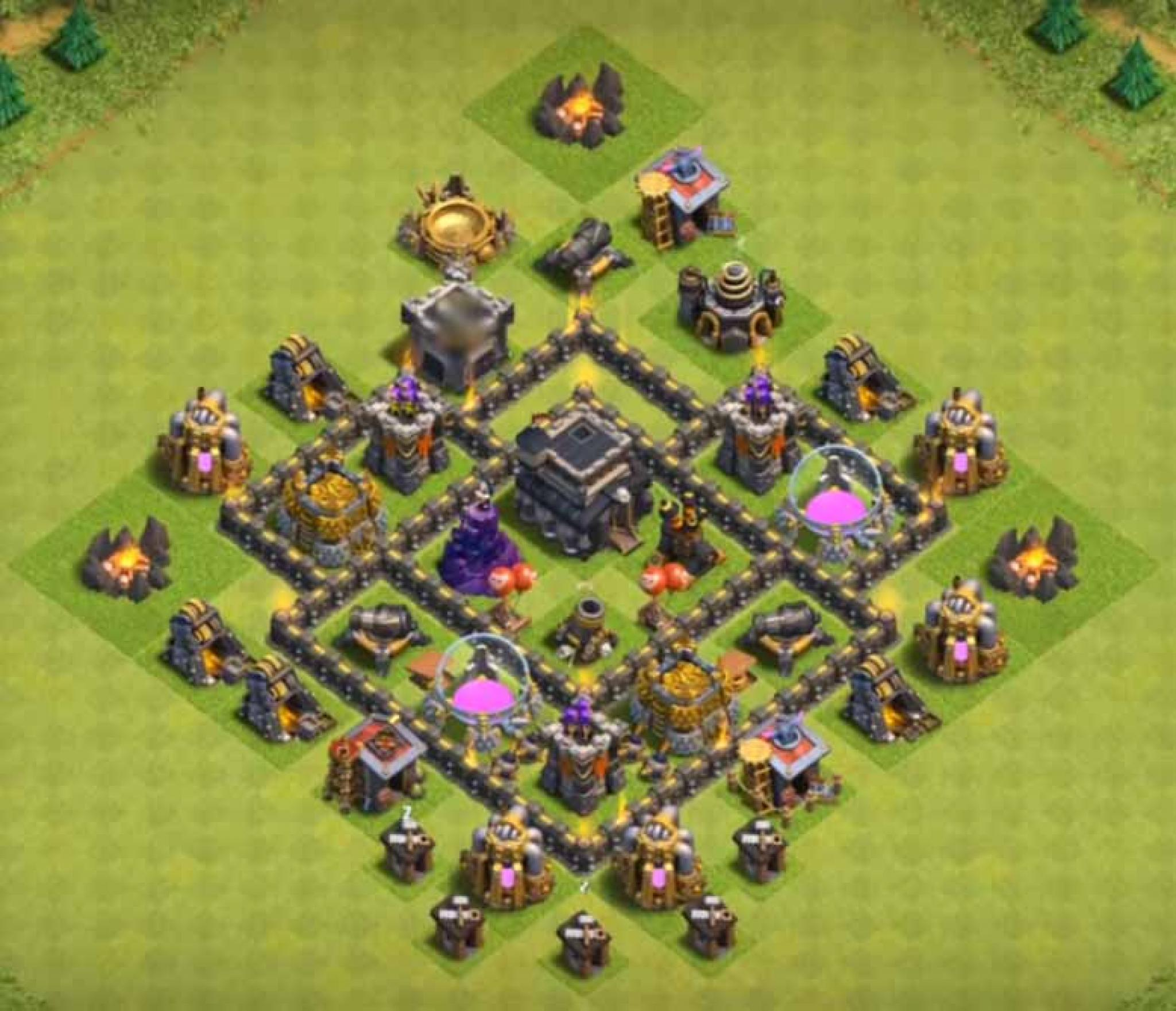 Clash of Clans trophy base for Town Hall 5