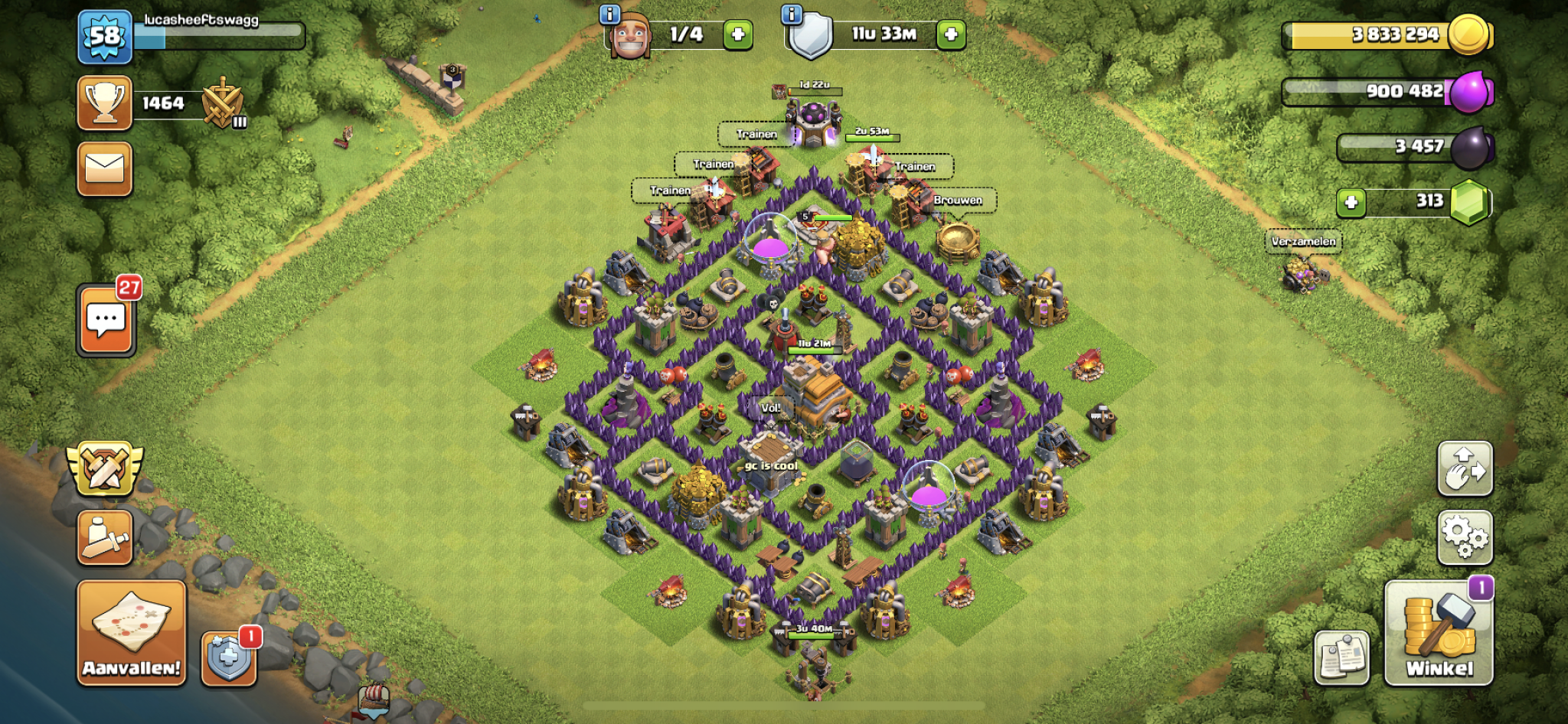 Clash of Clans trophy base for Town Hall 7