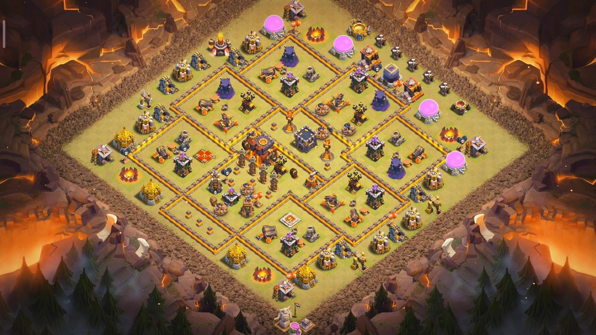 Clash of Clans war base for Town Hall 10