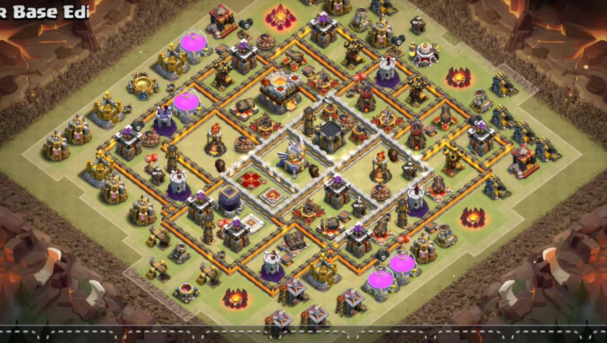 Clash of Clans war base for Town Hall 11