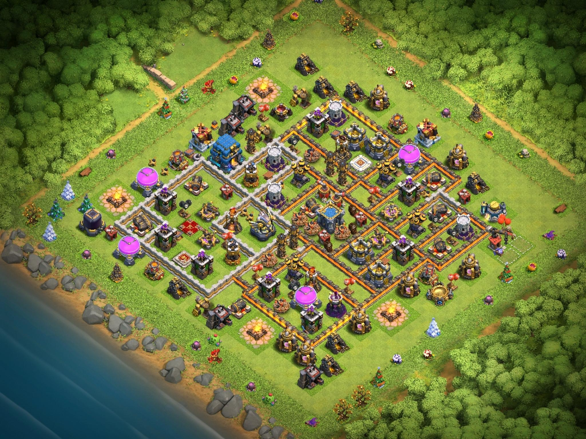 Clash of Clans Bases war for Town Hall 12 ClashTrack com - Clan