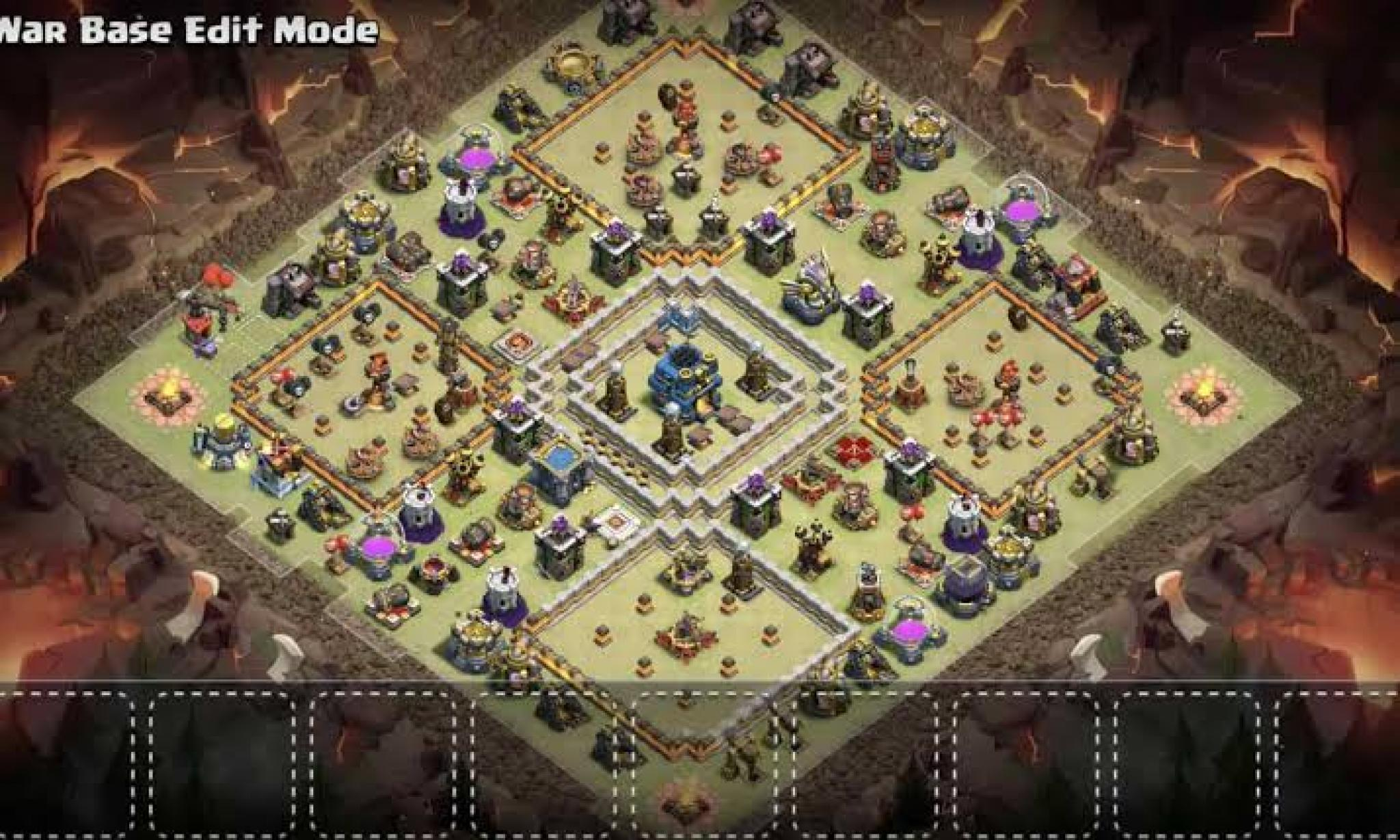 Clash of Clans war base for Town Hall 12
