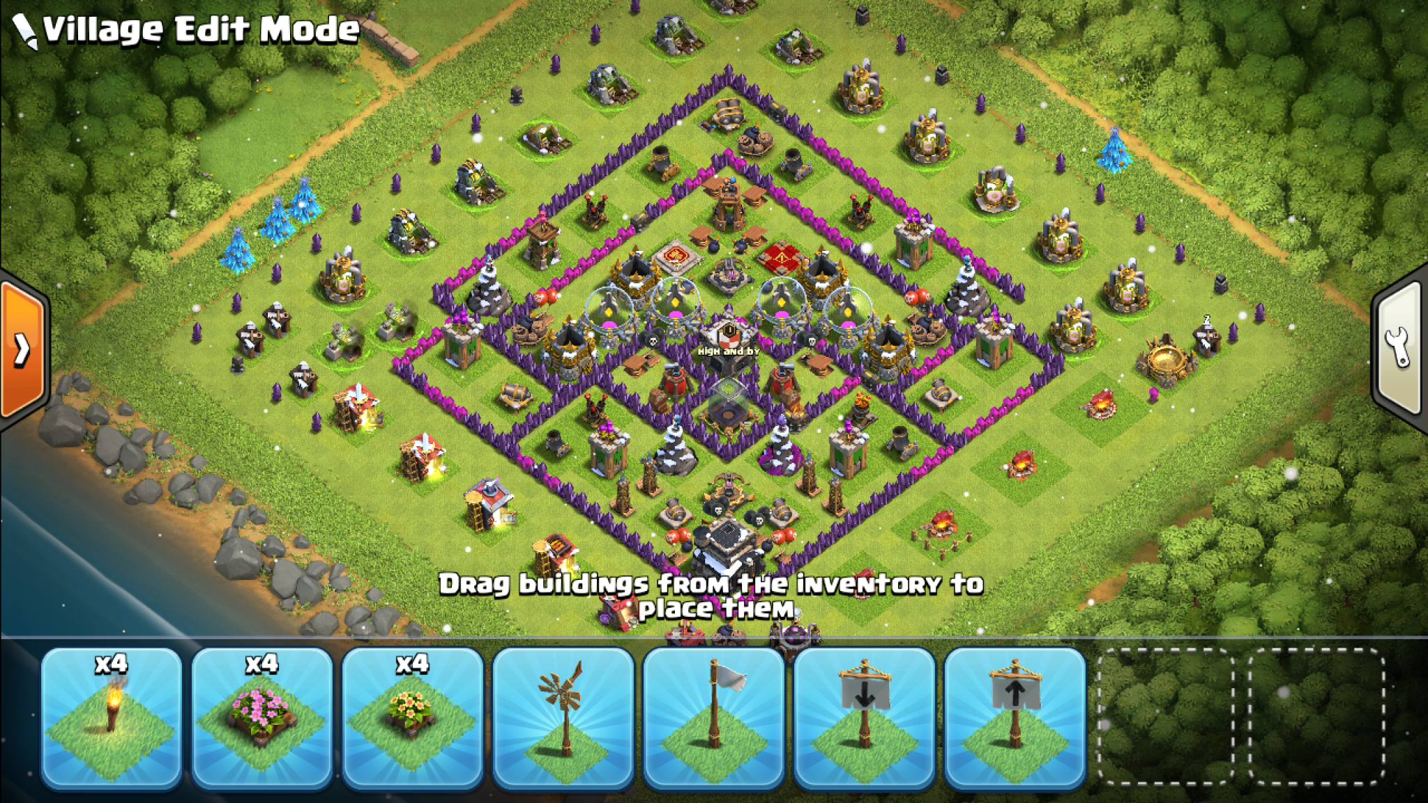Clash of Clans war base for Town Hall 6