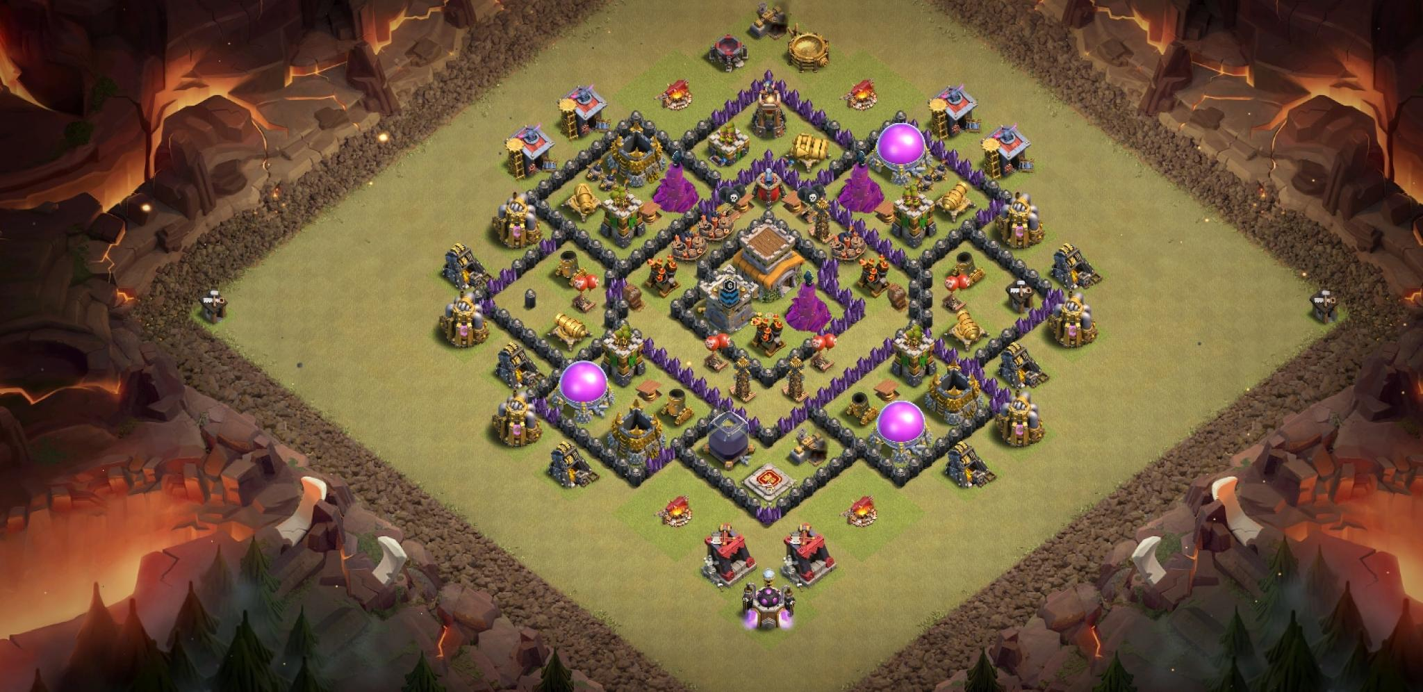 Clash of Clans war base for Town Hall 8