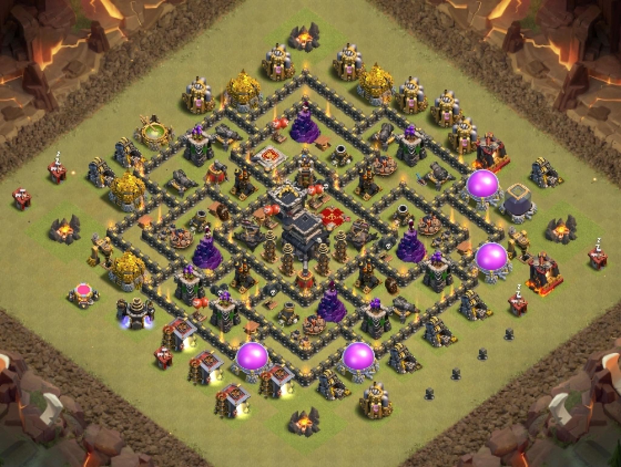 Clash of Clans war base for Town Hall 9